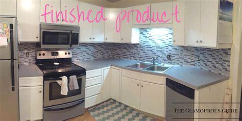 sticky backsplash for kitchen diy kitchen backsplash with sticky tiles