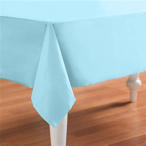 Light Blue Tablecloth by Light Blue Plastic Table Cover Rectangle