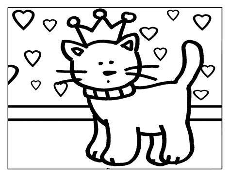 imagenes de love you para colorear dibujo colorear 16 princess kitty dibujo de princesas