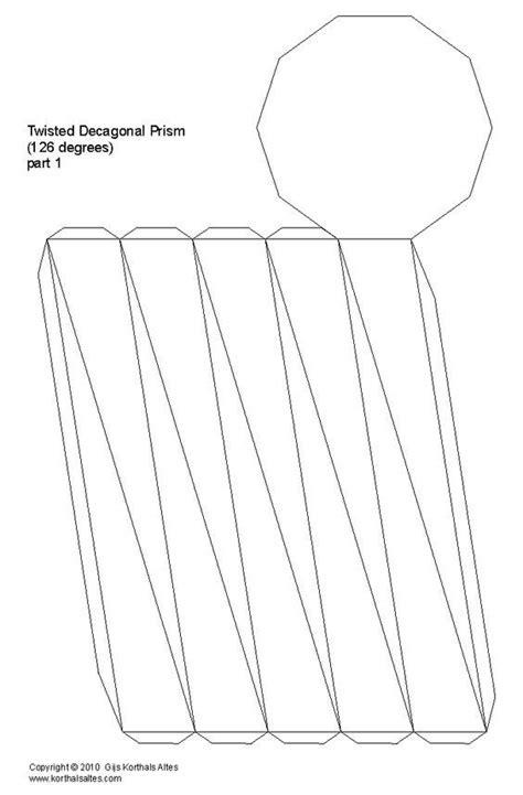 truncated cone template truncated cone template inspirational wo net twisted decagonal prism design inspiration