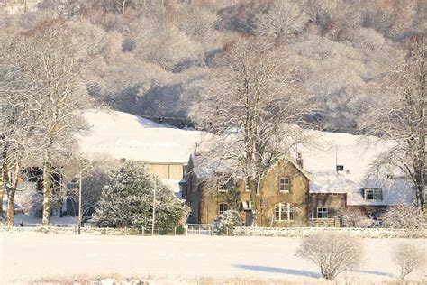 Country Farm House by Winter Farmhouse