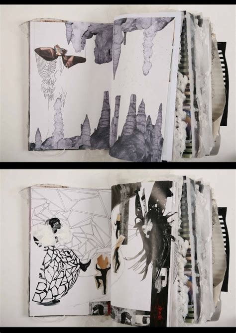 book layout artist creative sketchbook by fashion designer ania leike the