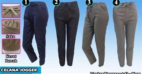 Celana Jogger Strecth Wanita Wanita Jogger Wanita 2 celana jogger wanita bahan katun stretch termurah