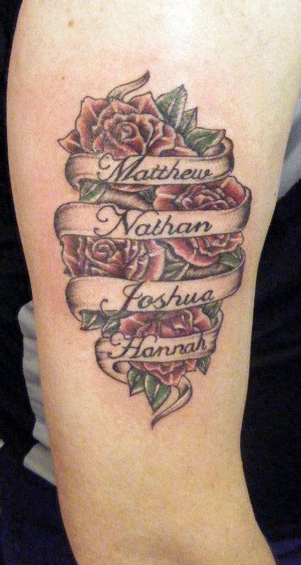 rose tattoos with names in them with name tattoos search tattoos