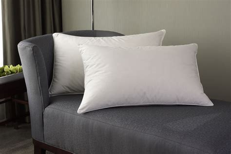 pillows on a bed goose down alternative standard queen size pillow