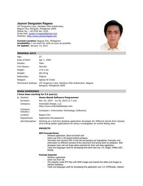 exles of resumes very good resume social work