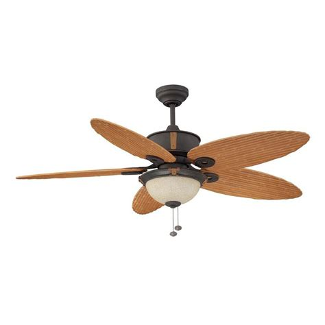 Outdoor Ceiling Fan Light Shop Litex 52 In Rubbed Bronze Outdoor Downrod Mount Ceiling Fan With Light Kit At Lowes