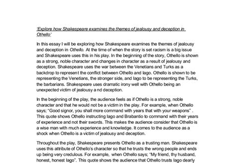 othello themes of jealousy and deception othello themes of jealousy and deception explore how