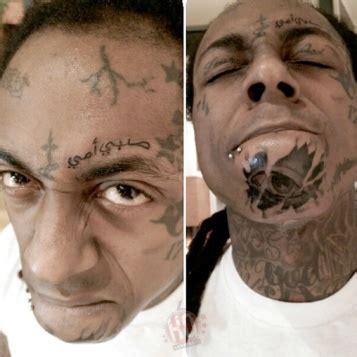 kevin gates face tattoos tats tunes lil wayne debuts two new tattoos