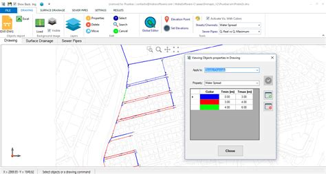 Storm Software Layout Creator | types of drain inlets for stormwater collection available