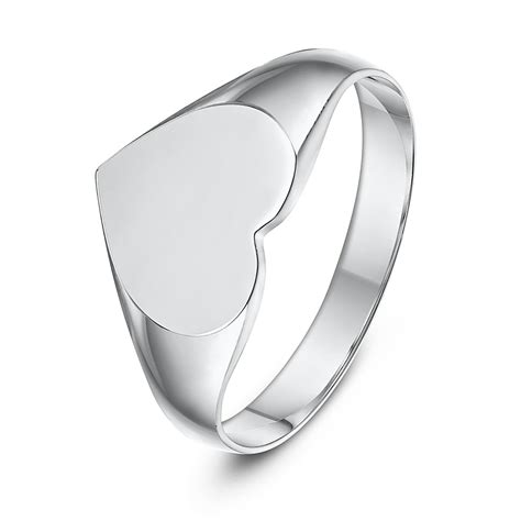 sterling silver shape signet ring ladie s