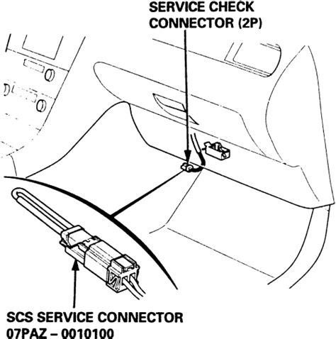 on board diagnostic system 1995 honda odyssey parking system repair guides trouble codes diagnostic connector autozone com