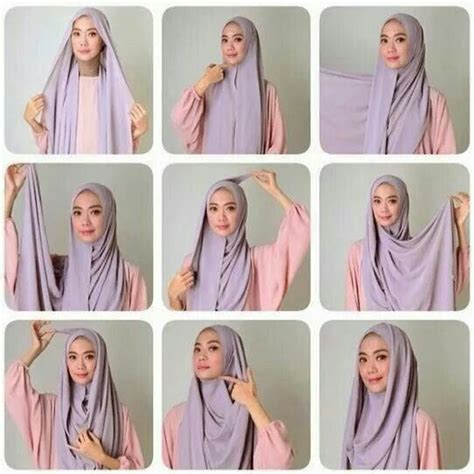 tutorial turban casual hijab segiempat tutorial hijab pinterest hijab