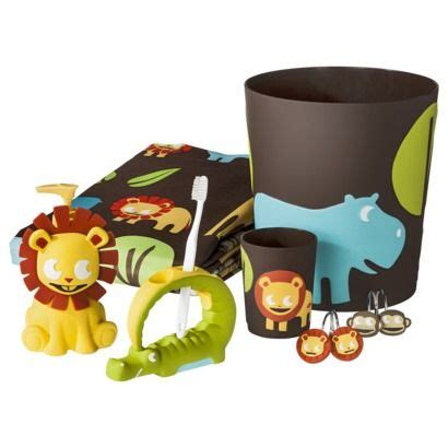 kids safari bathroom set circo 174 jungle bath collection can t find the rest of the