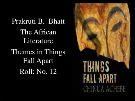 themes african literature themes in things fall apart