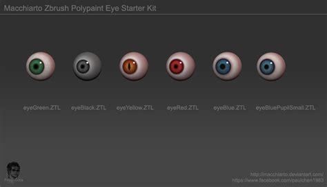 macchiarto zbrush polypaint eye starter kit by macchiarto on deviantart