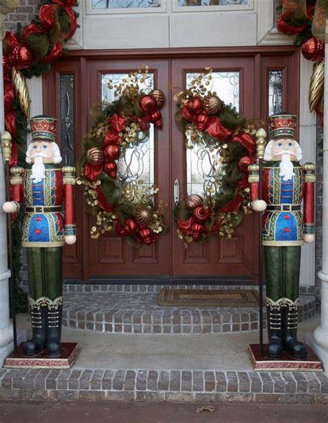 decorating doors for christmas 38 stunning christmas front door d 233 cor ideas digsdigs
