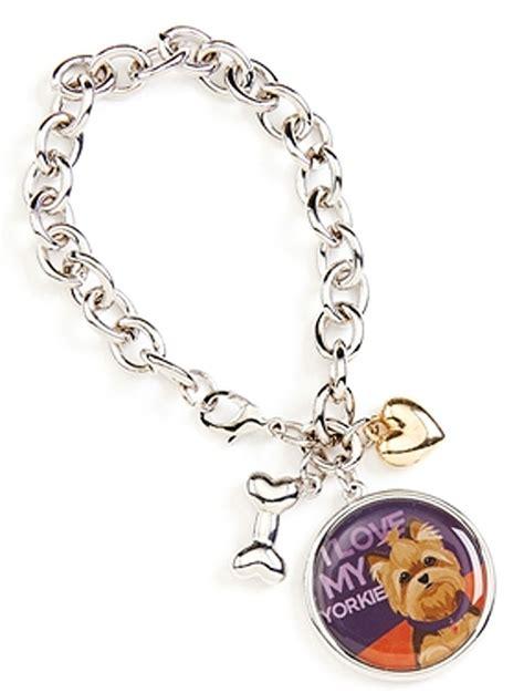 yorkie charm bracelet yorkie charm bracelet w bone puppy cut