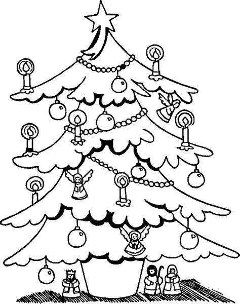 leuk voor kids een met lichtjes versierde kerstboom