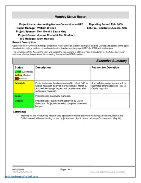 Monthly Progress Report Template by Monthly Project Progress Report Template High Quality