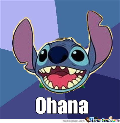 Stitch Memes - lilo stitch ohana by simon cerezo 752 meme center