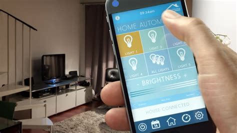 smart house home automation device with app icons