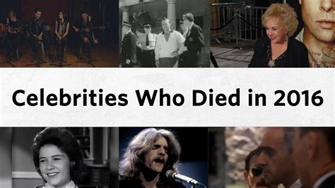 musicians that have died in 2016 final farewells celebrities who died in 2016