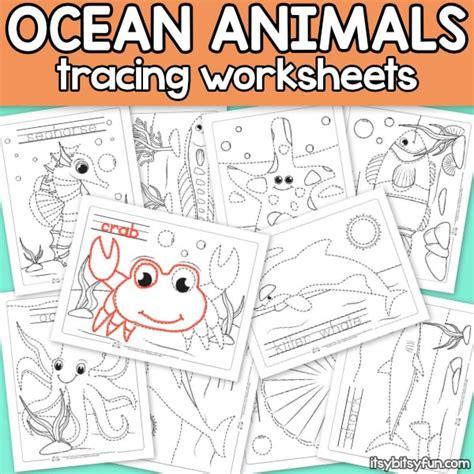 Itsy Bitsy Animals animals tracing worksheets itsy bitsy