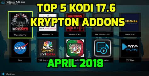 aptoide kodi 17 6 top kodi krypton addons april 2018 kodi tutorials