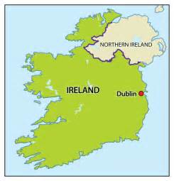 Ireland On World Map by Ireland Map