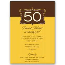 emblem gold 50th birthday invitations paperstyle