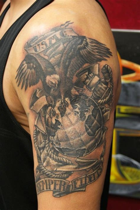 electric empire tattoo 34 best usmc tats images on marine corps