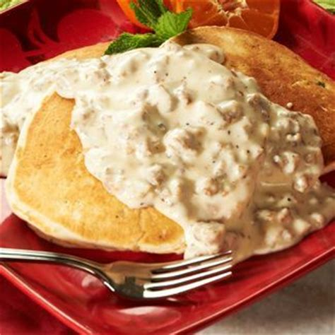 In The Kitchen With David Recipes by Buttermilk Biscuit Pancakes With Sausage Gravy David