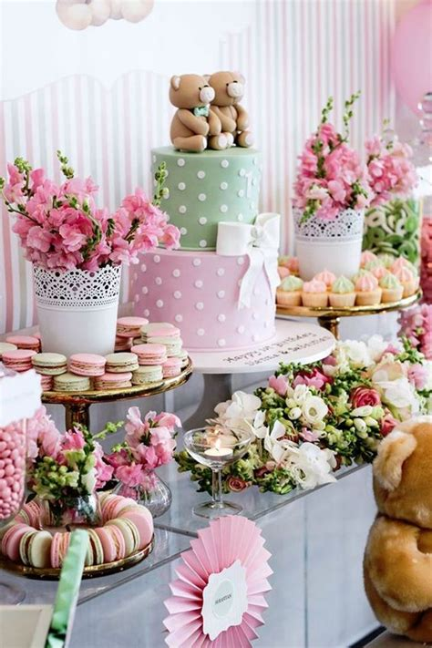 baby shower table 31 cute baby shower dessert table d 233 cor ideas digsdigs