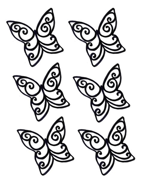 chocolate stencil templates chocolate butterfly template clipart best