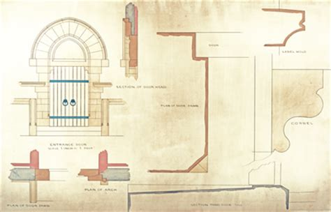 section 1059 plans trinity college architectural drawings for the long walk