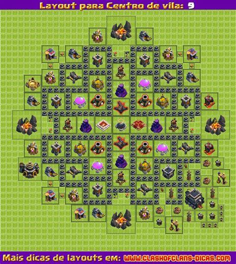 layout quadrado cv 9 layouts para clash of clans cv 9 atualiza 231 227 o 4