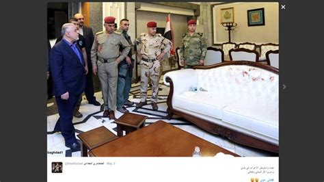 iraq sofa iraqis mock politicians reaction to stained white sofa