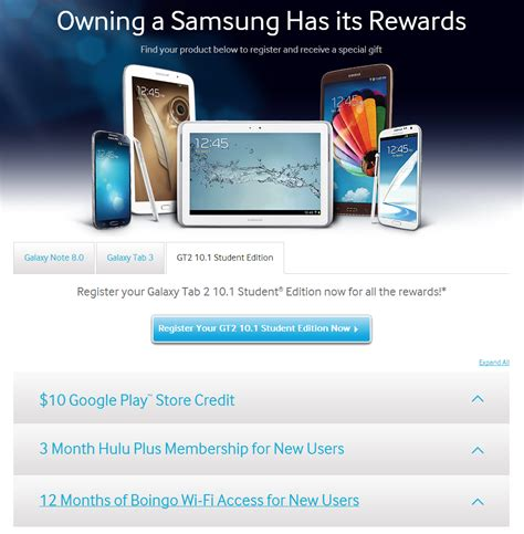 samsung starts a promo for the galaxy tab 2 student