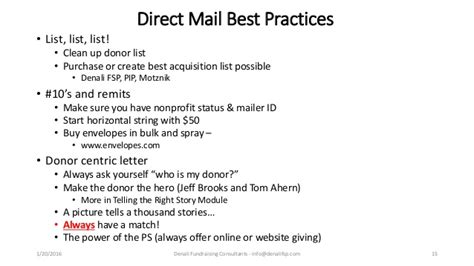 Fundraising Letter Best Practices 2nd Annual Fundraising 101 Best Practices 1 23 2016