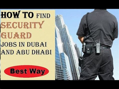 easy to apply in dubai security guard in dubai how to apply for