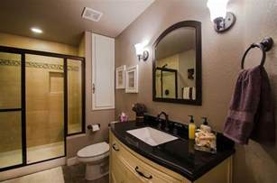 Small bathroom with pedestal sink in addition very small kitchen