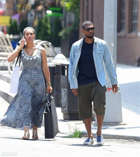 Ushers Engaged by More Photos Of Usher And His Gf Grace Miguel Shopping