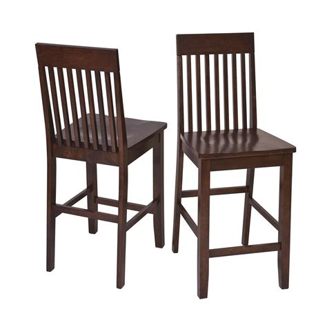 brown wood counter stools ospdesigns westbrook 24 in brown wood bar stool set