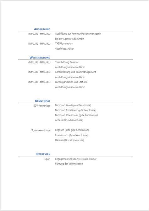 Lebenslauf Vorlage Zum Bearbeiten ᐅ Lebenslauf Muster Und Vorlagen In Word Gratis Vorlagen