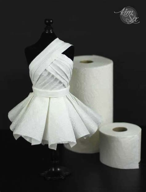 What To Make Out Of A Paper Towel Roll - carpet worthy haute couture dress from unconventional