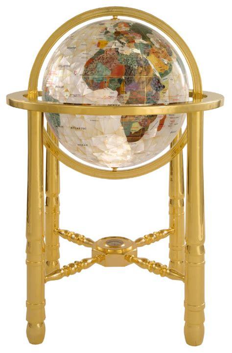 large of pearl gemstone floor globe