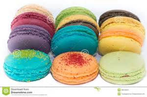 colorful cookies traditional colorful macaroons stock images image