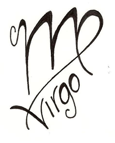 virgo symbol tattoo designs virgo original design www silverwingsart