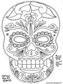 simple sugar skull hd coloring pages printable